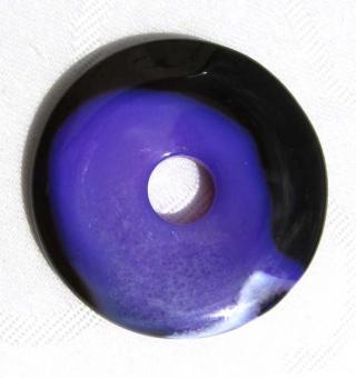 Donut-Anhänger ACHAT violett/schwarz, 40mm