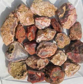 Achat aus Marokko, 1 kg Naturachat, Rohsteine 4-9 cm