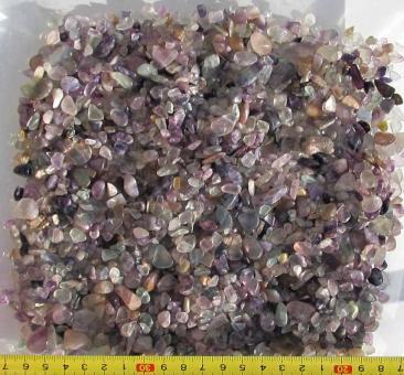 Fluorit mehfarbig, 300 g. kleine Trommelsteine