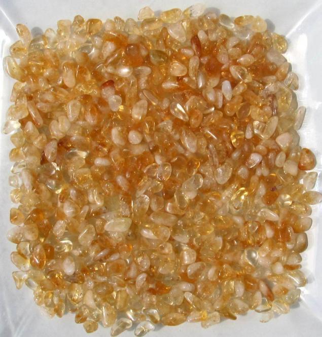 Citrin getrommelt, feine Trommelsteine, ca. 7-15 mm