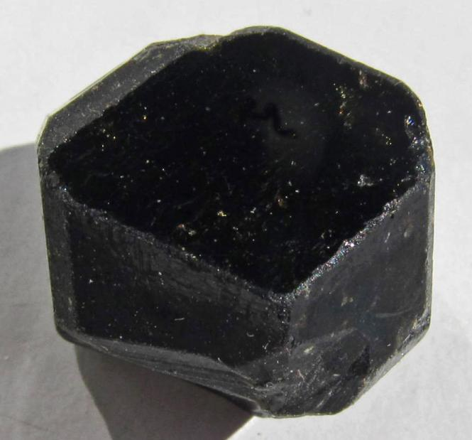 Schwarzer Granat, Melanit, Mali, Rohkristall